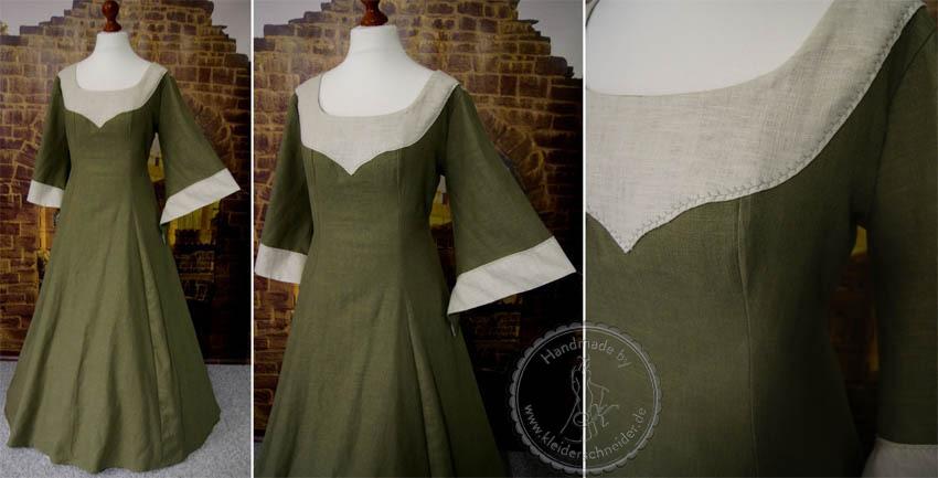 Mittelalterkleid aus Leinen Leinengewand Mittelaltergewand