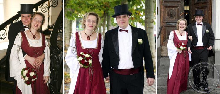 mittelalterliches Brautkleid, Flügelärmel, Mittelalterkleid