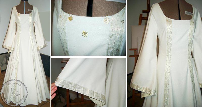 Mittelalterliches Brautkleid, Mittelalterkleid, mittelaltergewand, Gewand