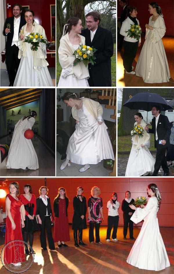 Hochzeitsgewand, Brautkleid mit Flügelärmel, Mittelalterkleid