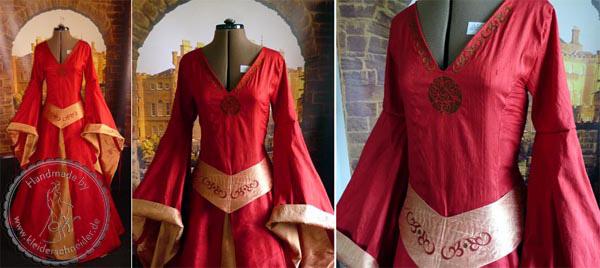 Mittelalterliches Hochzeitskleid, Mittelaltergewand, Mittelalterkleid, Gewandung