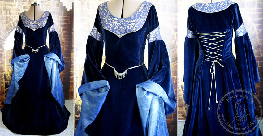 Mittelalterliche Robe, Mittelaltergewand, Gewandung
