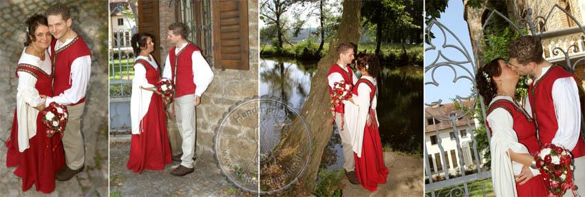 Mittelalterkleid und Weste