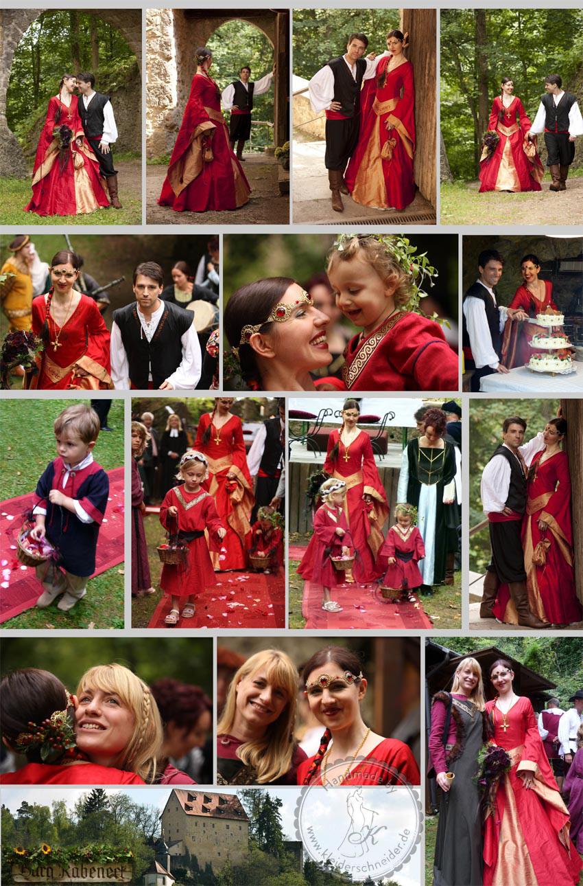 Mittelalterkleid, Hochzeitsgewandungen, Brautkleid, Mittelalterkleid, Hoppelande