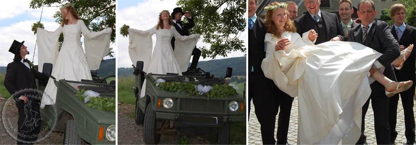 Brautkleid mit Flügelärmel, Mittelalterkleid, Gewand