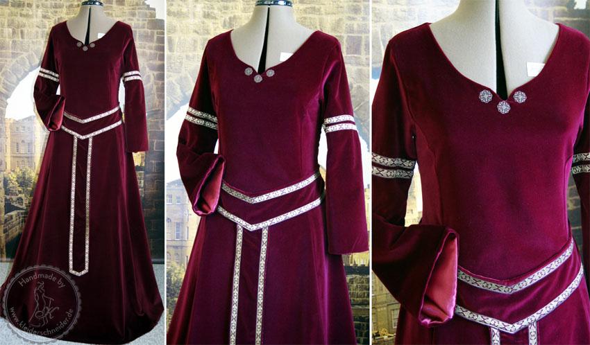 Mittealelterkleid, Mittelaltergewand aus Samt