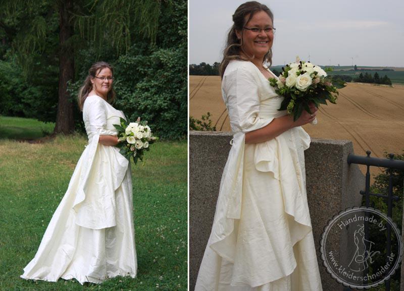 Brautkleid, Mittelaltergweand, Brautgewand, Flügelärmel