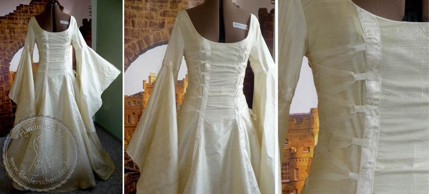 Mittelalterliches Hochzeitskleid, Brautkleid, Feenkleid, Gewand