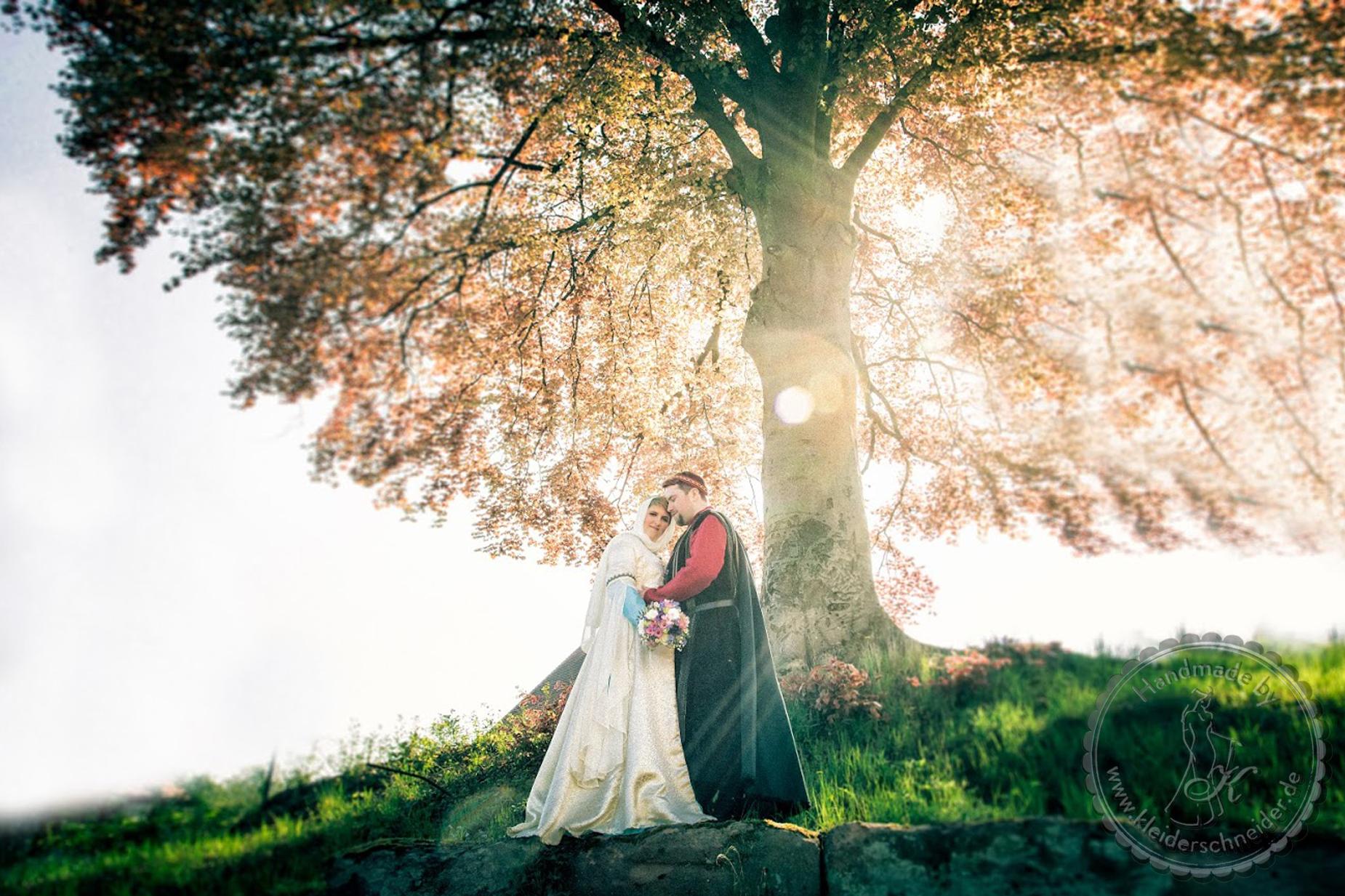 Mittelalter Hochzeit Gewand