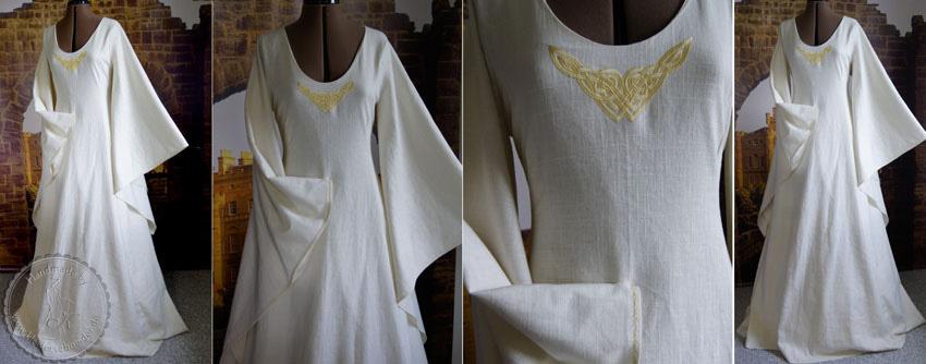 brautkleid, keltisch Gewand, Mittelaltzerkleid, Flügelärmel