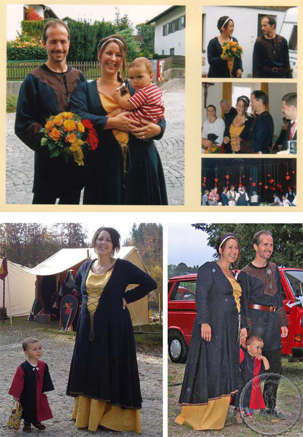 Hochzeitsgewandungen, Mittelalterkleid, Tunika