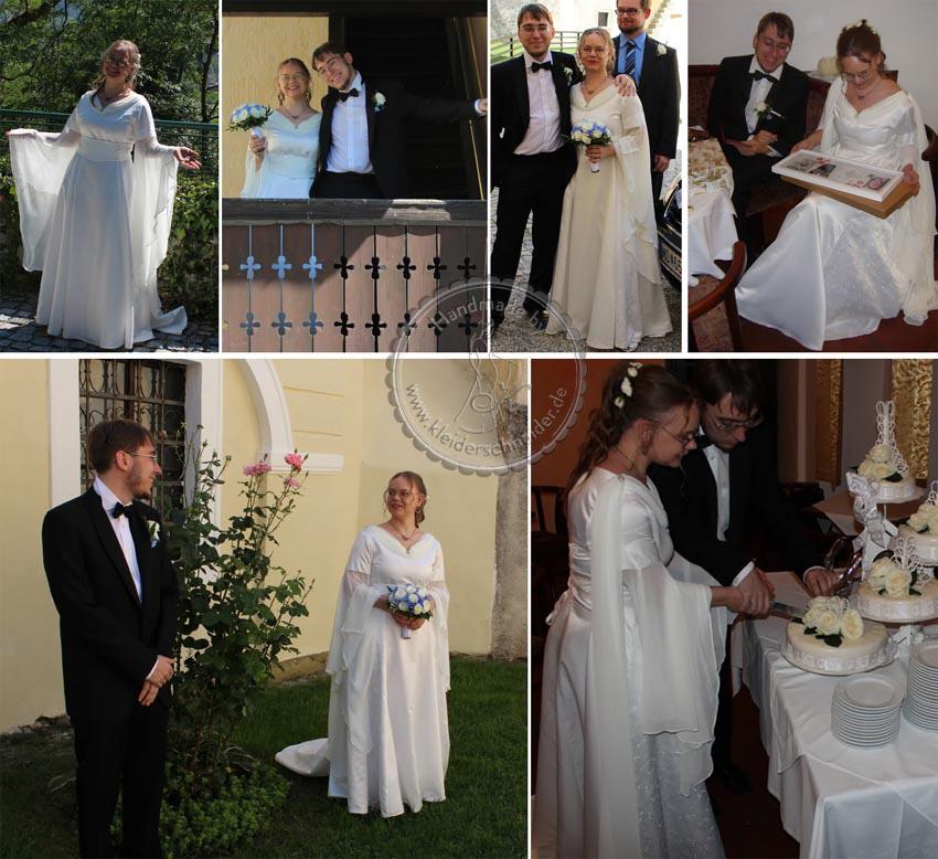 Elfengleiches Brautgewand, Brautkleid, Mittelalterkleid