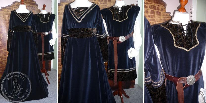 Mittelaltergewandungen, Mittelalterkleider, Houppelande