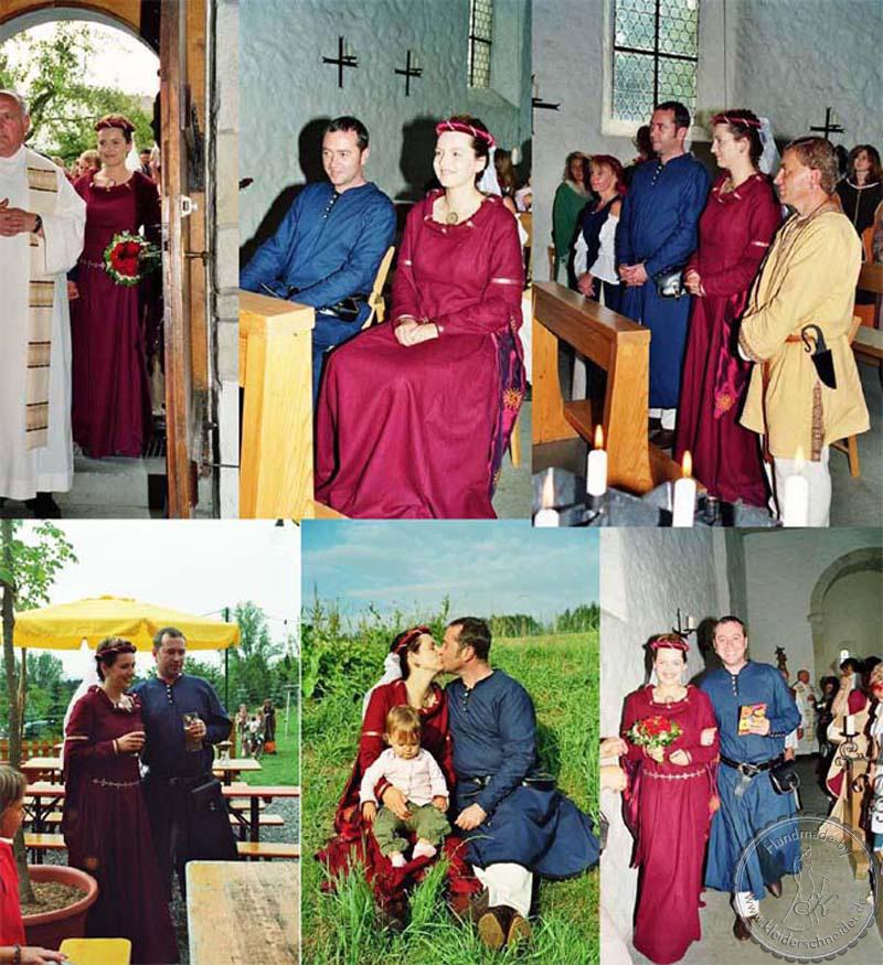 Mittelalterliche Hochzeit, Mittelalterkleid, mittelaltergewand, Houppelande