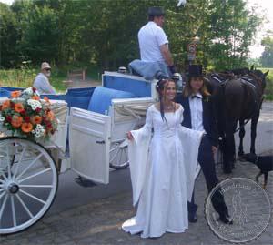 Elfengleiches Brautkleid, Mittelaltergewand, Hochzeitsgewand