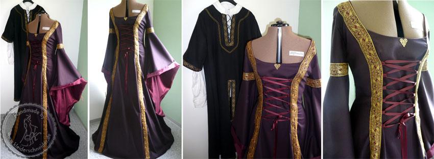 mittelalterliche Gewänder, Mittelalterkleid, Kotta, Hoppelande