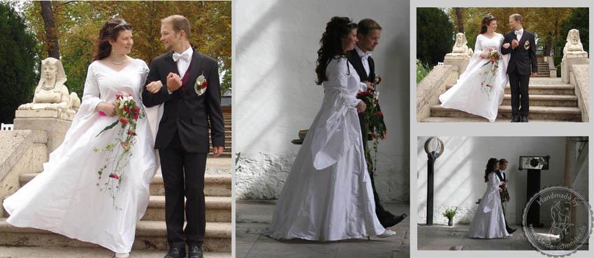 Brautkleid mit Feenärmel, Mittelaltergewand