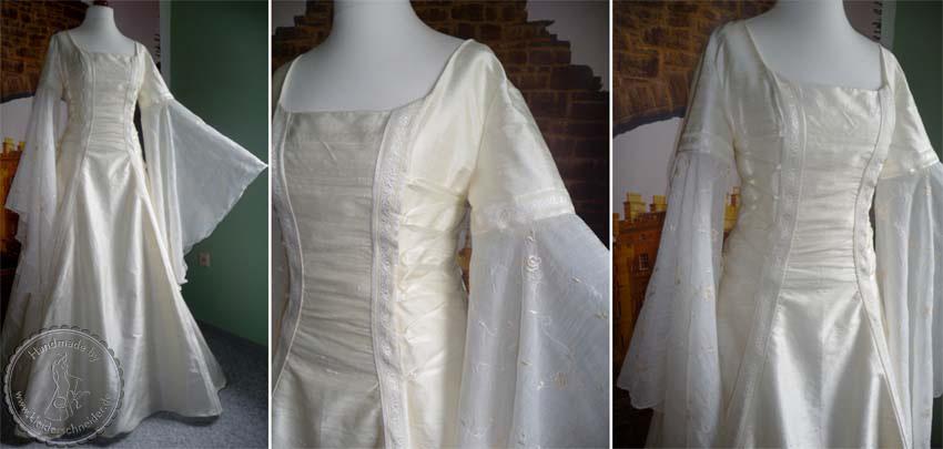 Elfenhaften Brautgewand, Mittelalterkleid, Gewandungen, Hochzeitskleid, Gewand