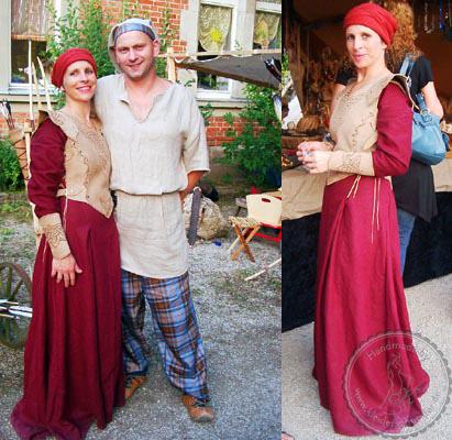 Mittelalter Gewandungen, schottengewand, Mittelalterkleid