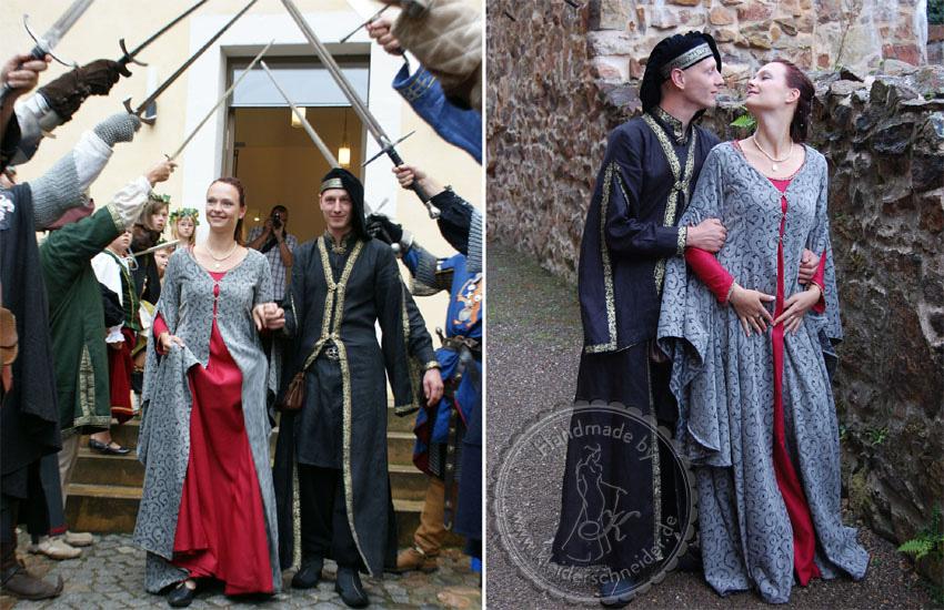 Mittelalterkleid Houppelande Hochzeitsgewand