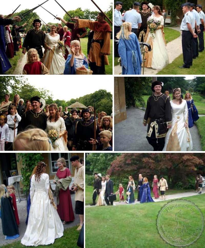 Hochzeitsgewänder, Mittelaltergewand, Mittelalterkleid, Hochzeitskleid