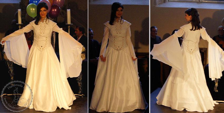 Mittelaltergweand, Mittelalterkleid, Brautkleid aus Leder