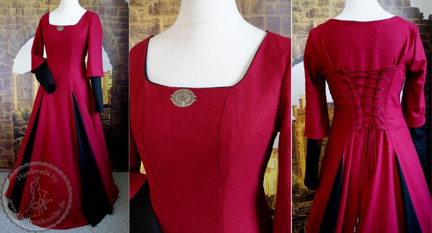 wunderschönes Mittelaltergewand aus Leinen, Mittelalterkleid