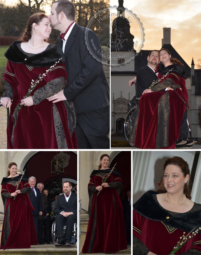 Mittelalterliches Hochzeitsgewand, Brautkleid, Mittelalterkleid