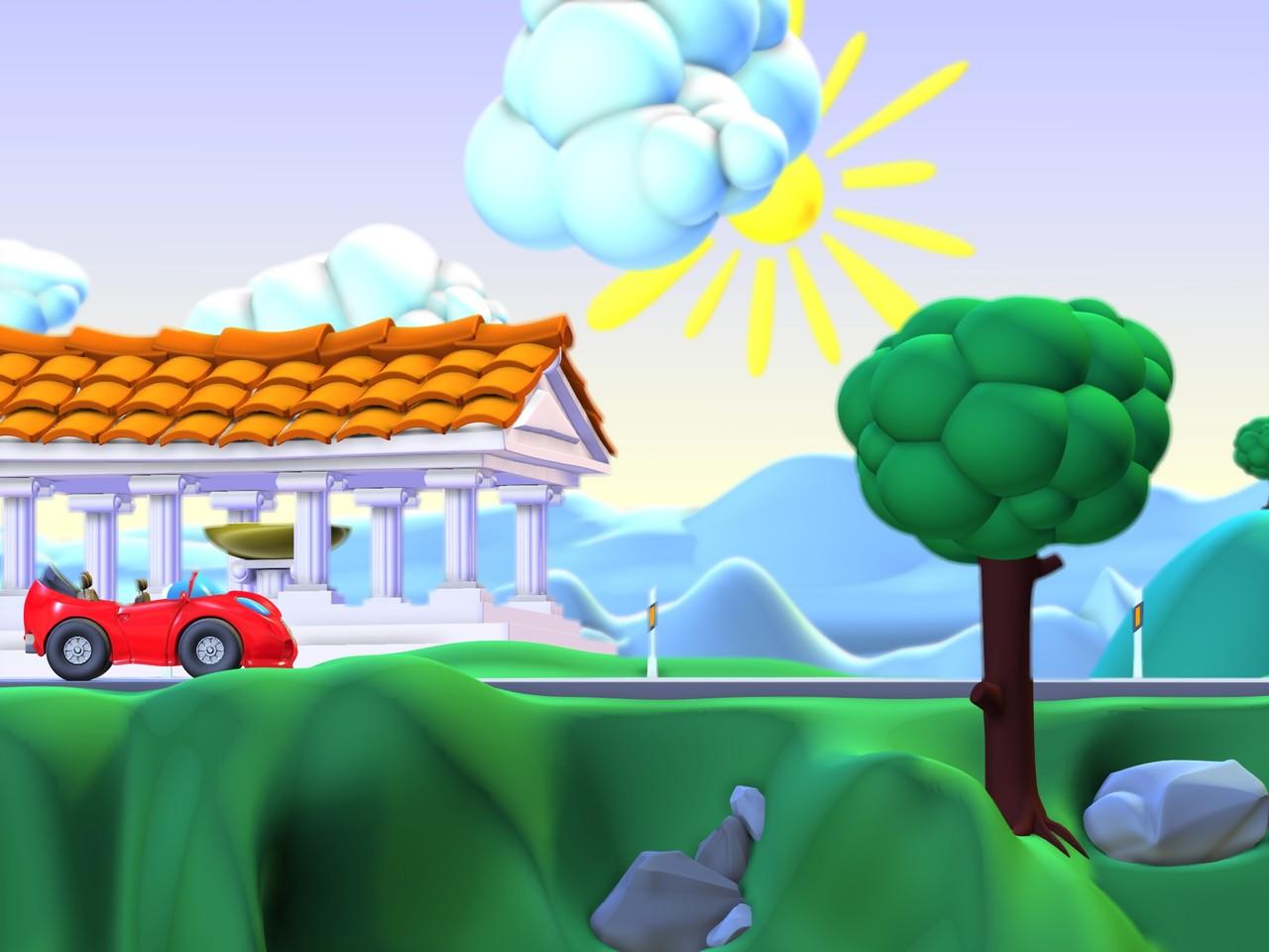 "Minigame GFX 3D concept for ""Brainlympics"""