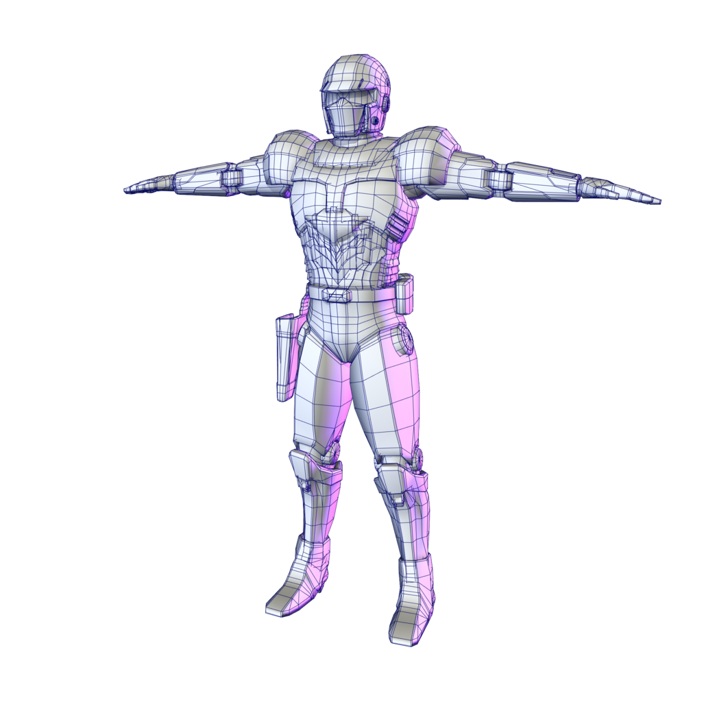 Untextured lowpoly model.