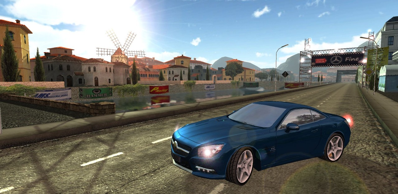 "Ingame beauty screenshot for ""Knowledge Race - Mille Miglia"""