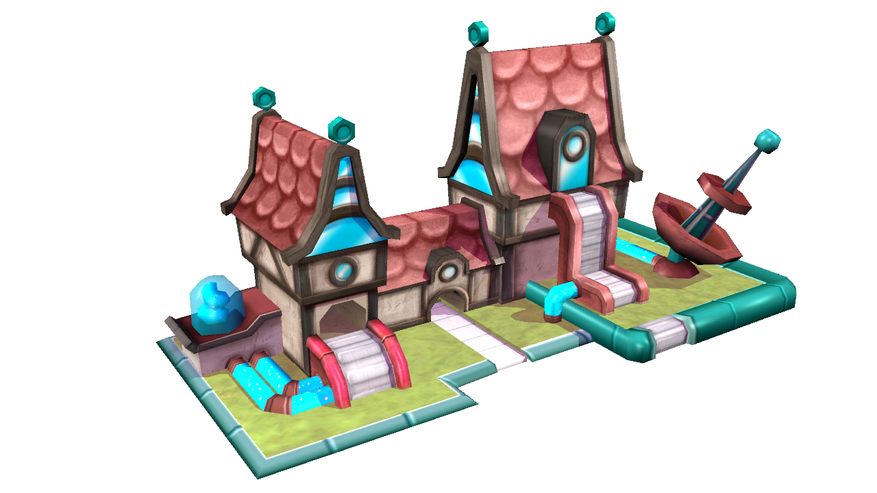 "Ingame buildings for ""Eevoo"" on mobile devices"