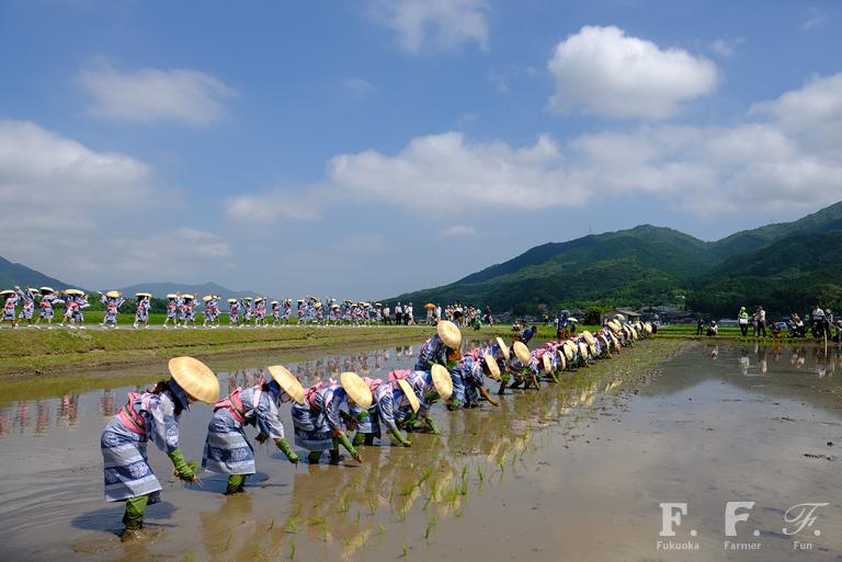 脇山主基斉田90周年 お田植祭