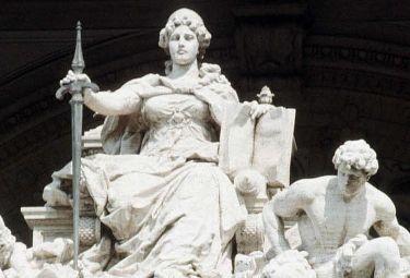 Particolare della facciata della Corte di Cassazione
