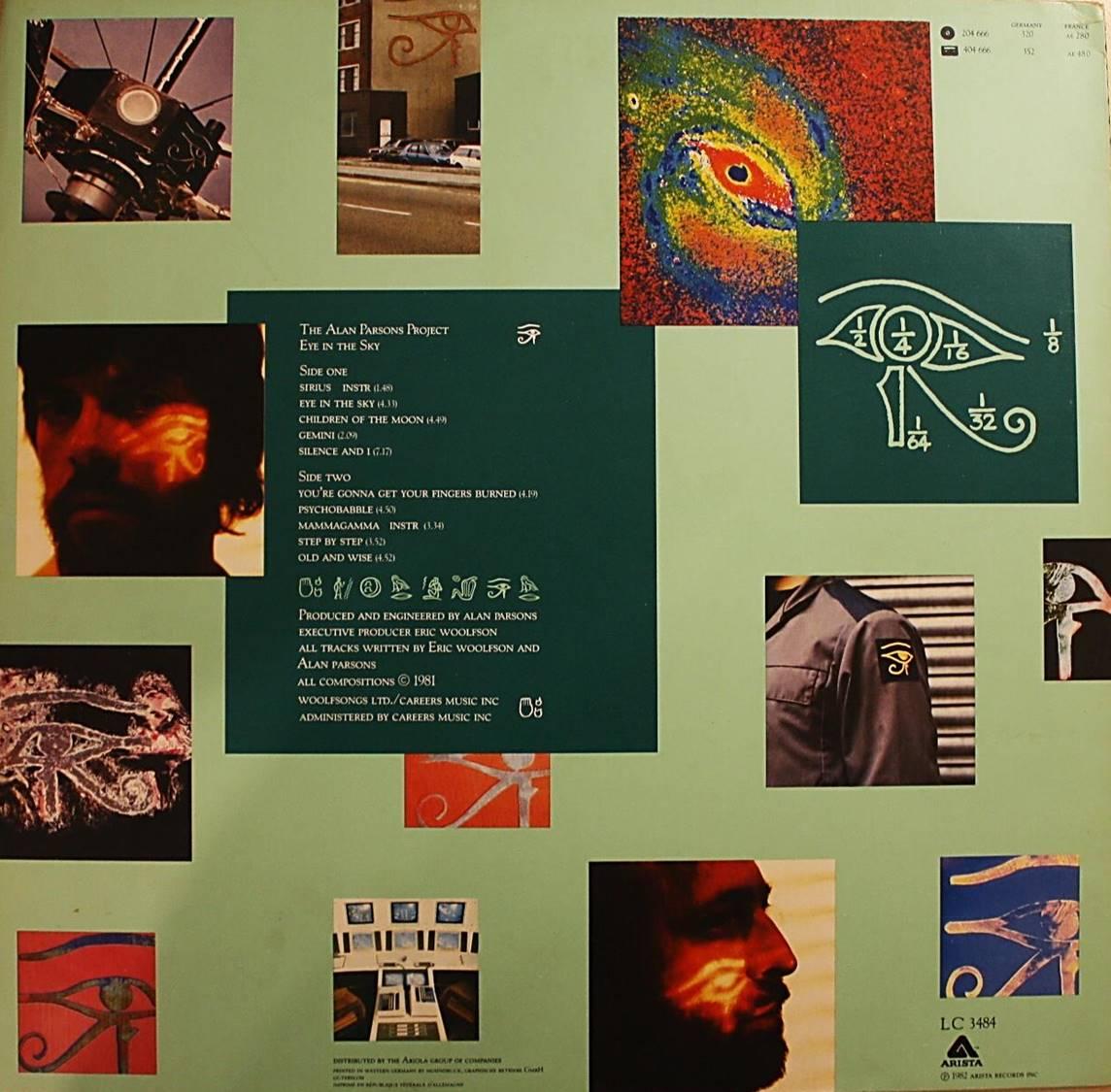 Hinten: Song-Liste (Mitte), rechts oben Katalog-Nr. rechts unten: Label Code, Verlag, Druckdatum