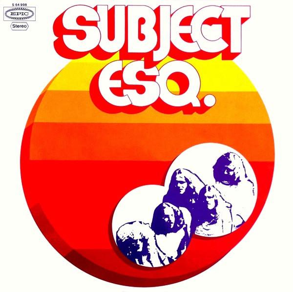 1972 - SUBJECT ESQ. - SUBJECT ESQ.