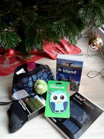 Dankeschön an alle, die bei ihren Weihnachtsgeschenken an mich und meine Irland-Reise gedacht haben!