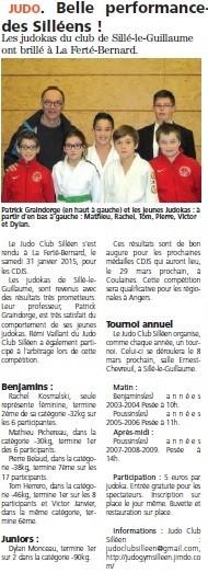 Alpes Mancelles 20/02/2015  Judo Sillé le Guillaume : Belle performance des Silléens !