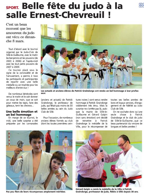 Alpes Mancelles 13/03/2015 Judo Sillé le Guillaume : Belle fête du judo à la salle Ernest Chevreuil !