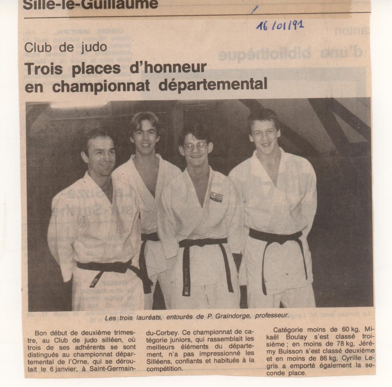 1991 – Championnat Départemental de l'Orne