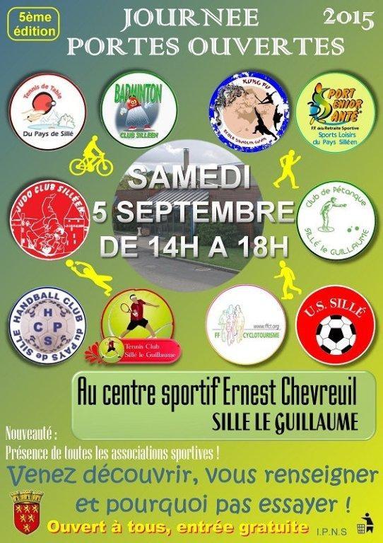 Judo Sillé le Guillaume : Journée portes ouvertes le samedi 5 septembre 2015 au Centre Sportif Ernest Chevreuil