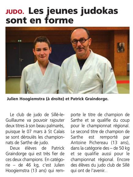 Alpes Mancelles 20/03/2015 Judo Sillé le Guillaume : Les jeunes judokas sont en forme