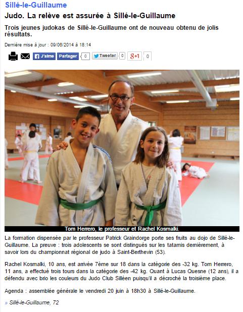 Alpes Mancelles 09/06/2014 Judo Sillé le Guillaume : La relève est assurée à Sillé le Guillaume