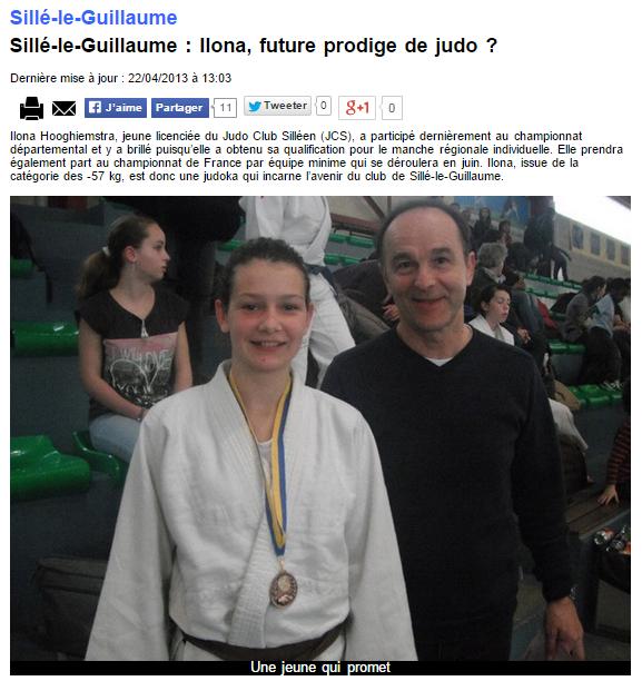 Alpes Mancelles 22/04/2013 Judo Sillé le Guillaume : Ilona, future prodige de judo ?