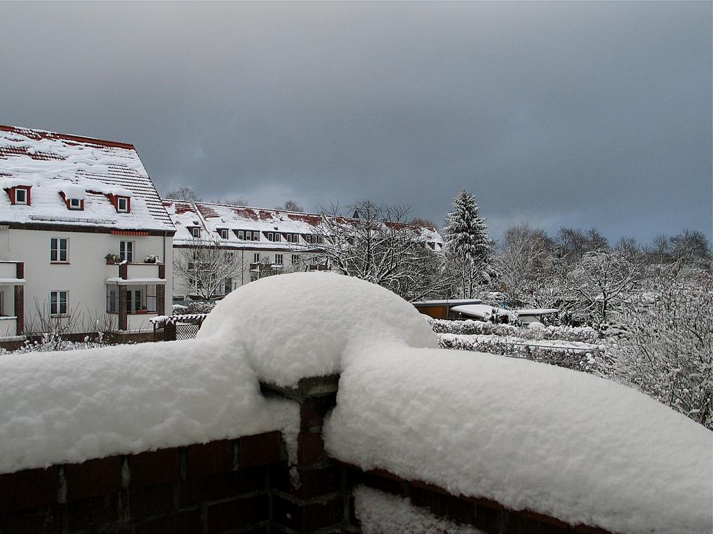"""Ein """"kalter"""" Blick vom Balkon nach Wieck..."""