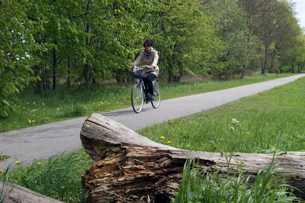 ... ist heute ein schöner Radweg und Skaterbahn