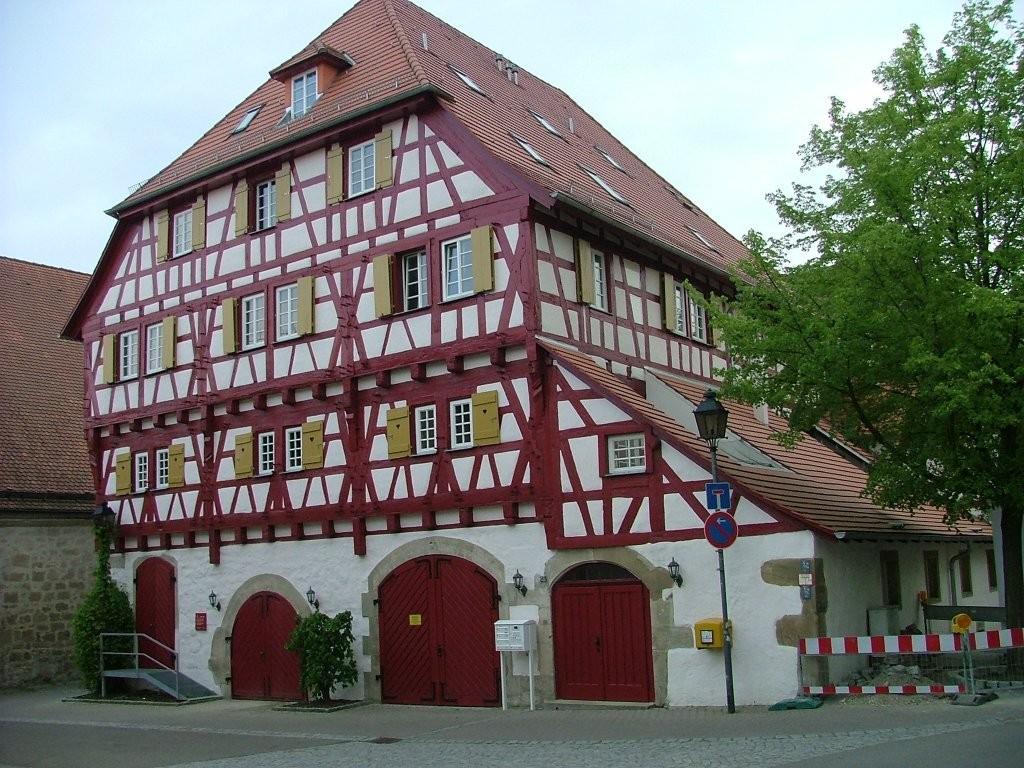 Fachwerkhaus am Ende der Schlossstraße.