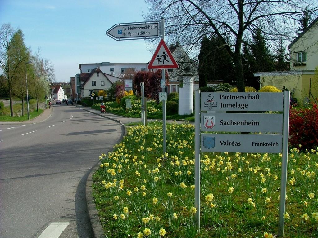 Abzweigung in Kleinsachsenheim