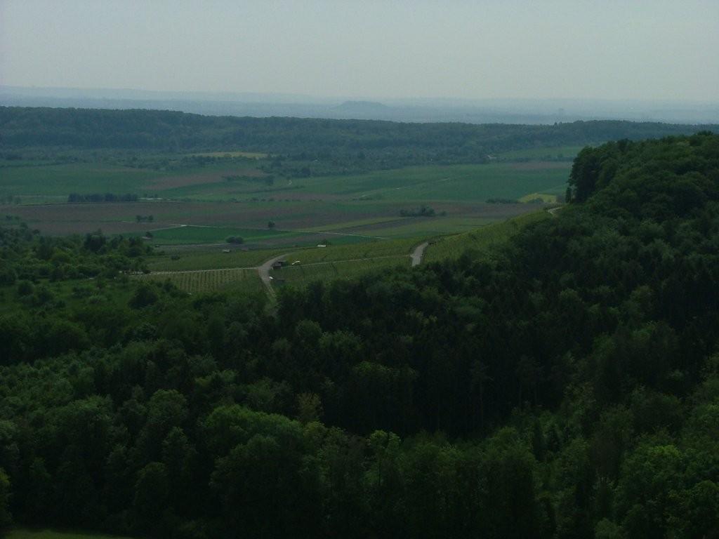 Von hier sieht man bis Bietigheim, den Hohenasperg und auch die Eselsburg bei Ensingen.