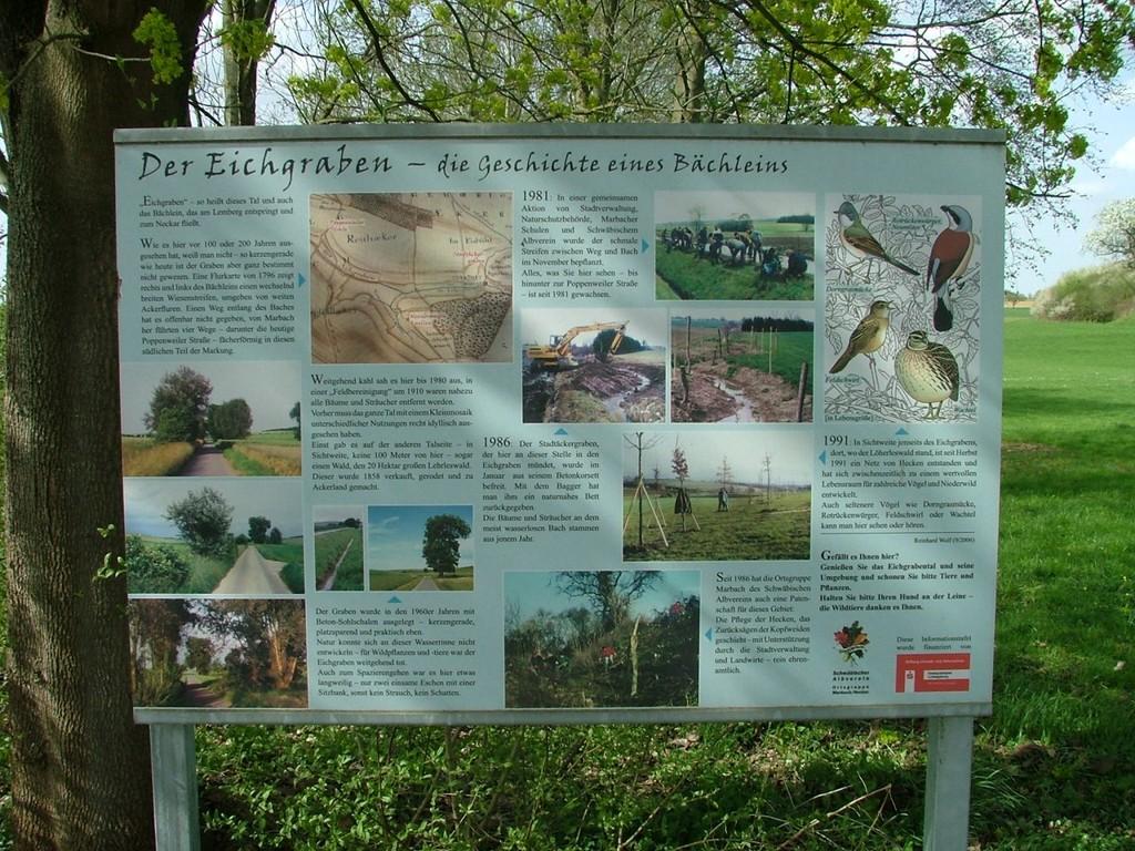 Infoschild zum Eichgraben